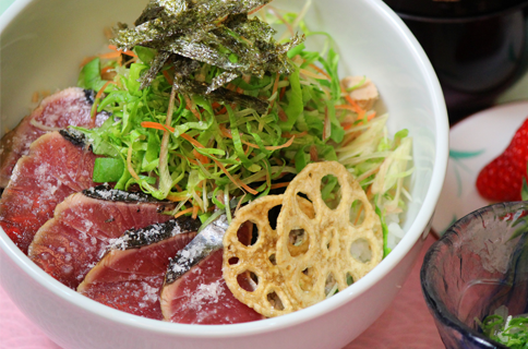 Shio Tataki-don (salted bonito rice bowl